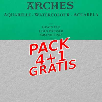 Set di Carta Arches G.F. 300gr - 4+1 gratis!
