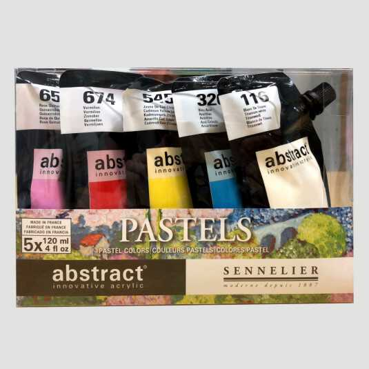 Acrilico Abstract - Set Colori Pastello