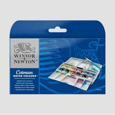 Confezione Cotman Winsor&Newton - 12 M.Godet + Blocco maggio