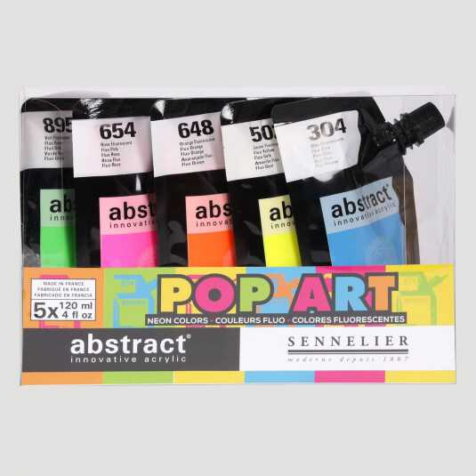 Acrilico Abstract - Set Colori Pop Art Fluo