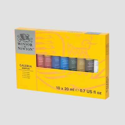 Acrilico Galeria Winsor&Newton - Confezione 10 Tubi