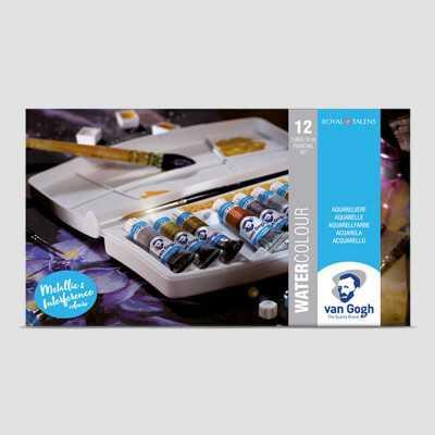 Kit Acquarello Iridescente - Colori + Carta Nera Van Gogh