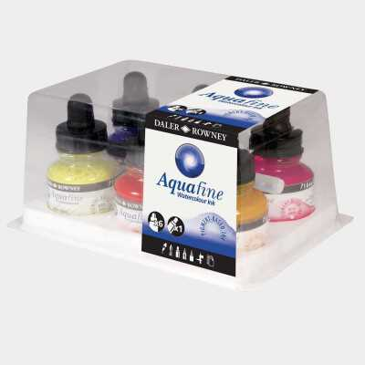 Set Aquafine Ink Daler Rowney - 6 inchiostri colorati