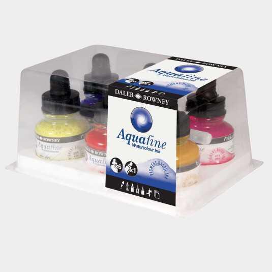 Set Aquafine Ink Daler Rowney - 6 inchiostri colorati