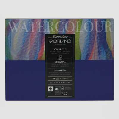 Blocco Watercolour Fabriano Grana Fine 300gr 12fogli
