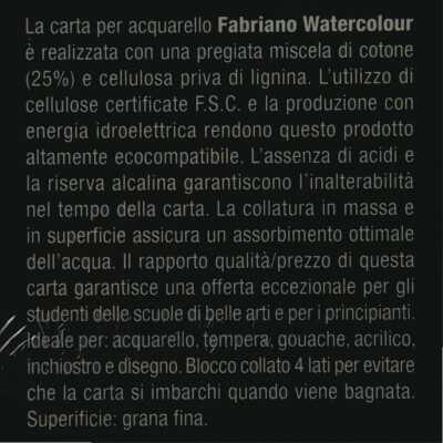 Blocco Watercolour Fabriano Grana Fine 300gr 20fogli