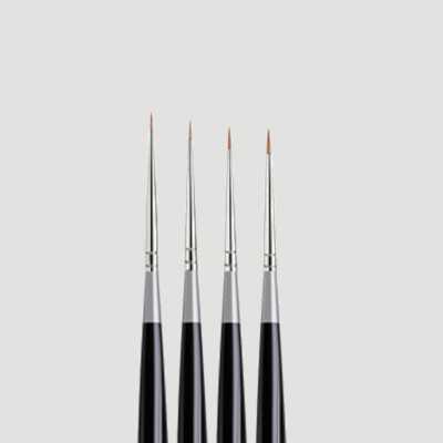 Set da quattro pennelli ultra sottili Da Vinci Micro Maestro