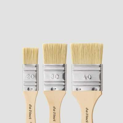 Set tre pennellesse in setole sintetiche Da Vinci