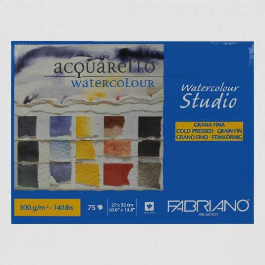 Blocco Watercolour Studio Fabriano Grana Fine 300gr 75fogli