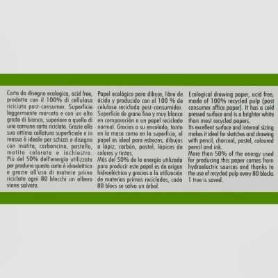 Blocco Schizzo Ecologico Fabriano Grana Naturale 120gr