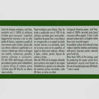 Blocco da Disegno Ecologico Fabriano Grana Naturale 200gr