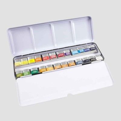 Set Acquerello 24 Mezzi Godet - Professional Water Colour Winsor&Newton