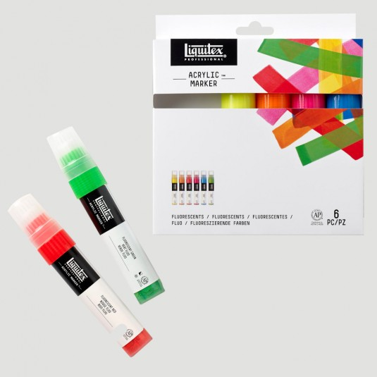 "Set Paint Marker ""Fluo"""