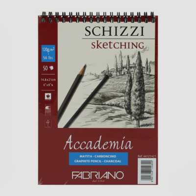 Blocco Accademia Schizzi Rilegatura a Spirale Grana Naturale 120gr