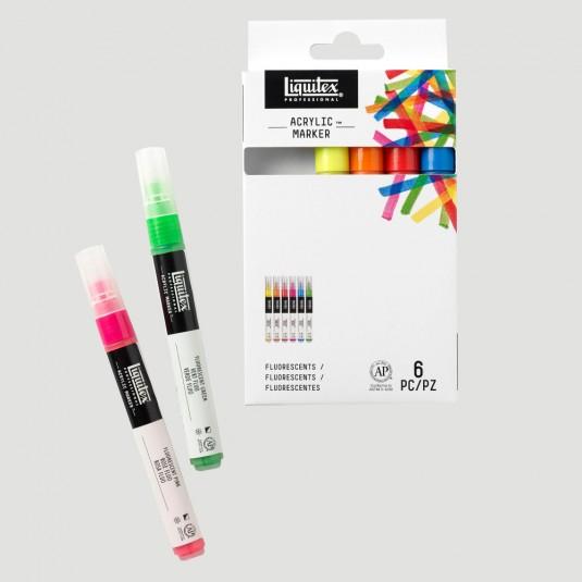 """Set Paint Marker """"Fluo Fine"""""""