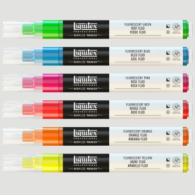 "Set Paint Marker ""Fluo Fine"""
