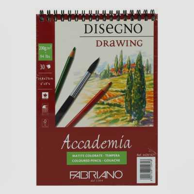 Blocco Accademia Schizzi Rilegatura a Spirale Grana Naturale 200gr