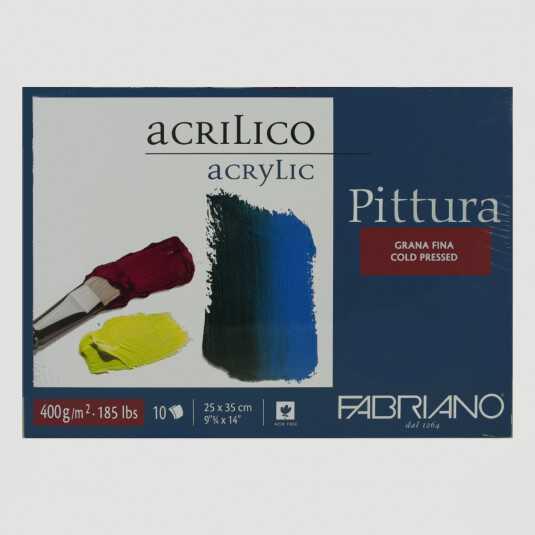 Blocco Pittura Acrilica Fabriano 400gr 10fogli