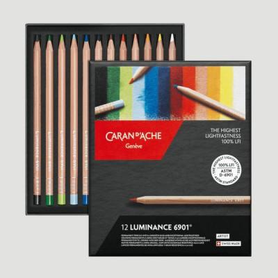 Matite Colorate Luminance - Caran d'Ache Scatola 12 Colori