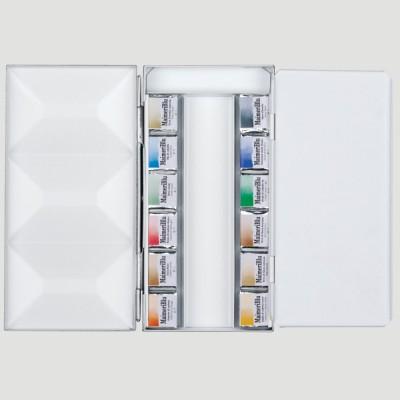 Confezione Acquerello Maimeri Blu - 12 Mezzi Godet