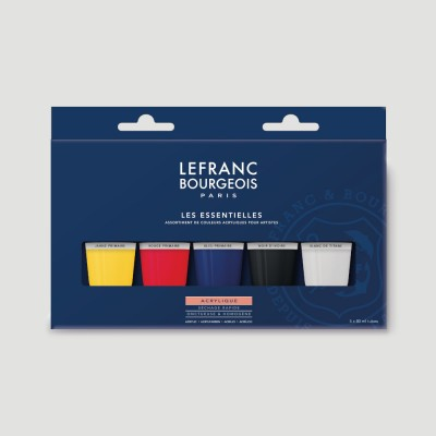 Colore Acrilico Fine - Confezione Primari LeFranc Bourgeois