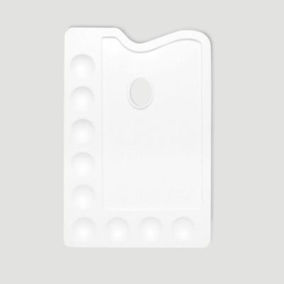 Tavolozza per Dipingere - Plastica 19x28cm + Scomparti Colore