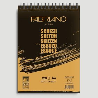 Blocco Schizzo Fabriano - Spirale lato corto