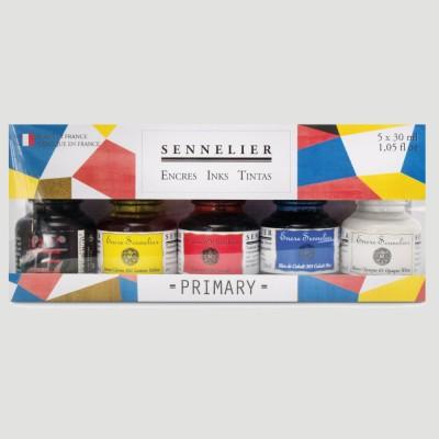Inchiostro per Calligrafia Sennelier - Confezione 5 Primari