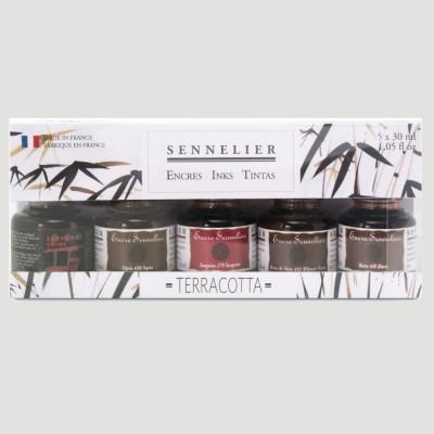 Inchiostro per Calligrafia Sennelier - Confezione Terracotta