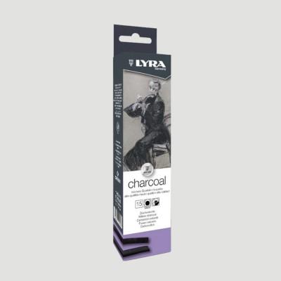 Carboncino puro naturale - 15 Stecche medie da 6mm
