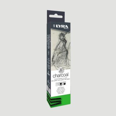 Carboncino puro naturale - 15 Stecche fini da 3mm
