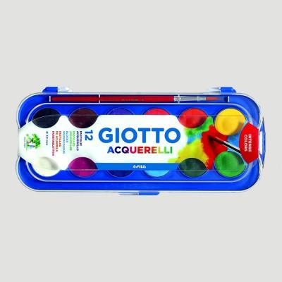 Acquerelli Giotto - 12 Colori e Pennello