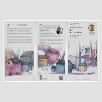 Kit Intermedio con 10 Pennelli di Laura Cortinovis - per Acquerello con Astuccio