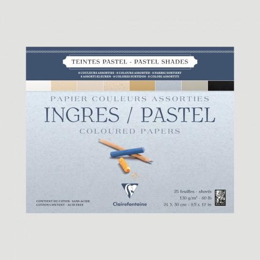 Blocco Ingres per Disegno e Pastello - Fogli Tinte Pastello Clairefontaine