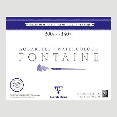 Blocco Fontaine Clairefontaine - Grana Semi-Satinata 100% Cotone