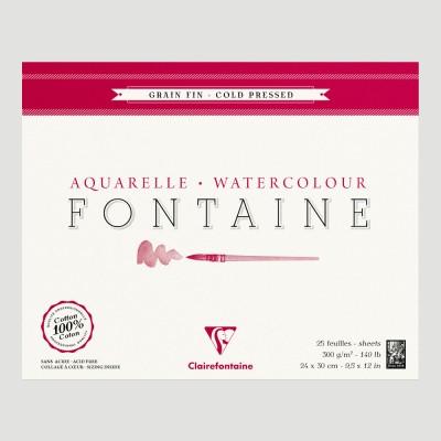 Blocco Fontaine Clairefontaine - Grana Fine 100% Cotone