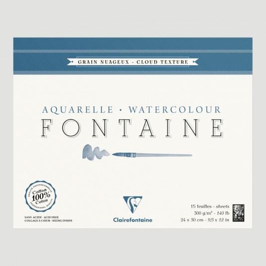 Blocco Fontaine Clairefontaine - Grana Nuvola 100% Cotone