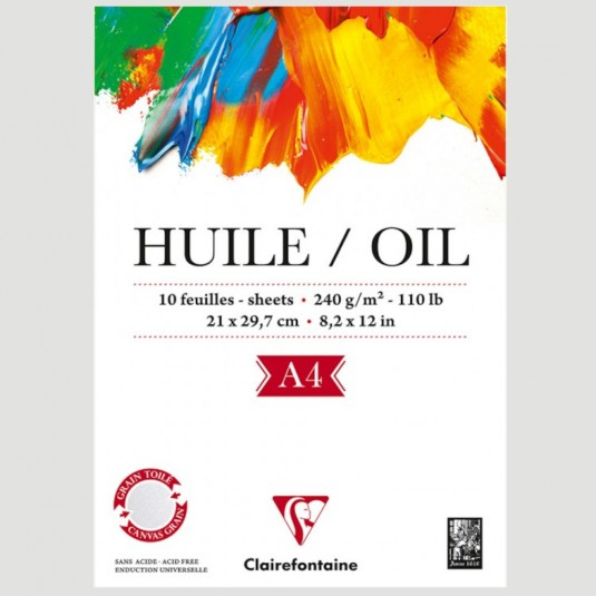 Album di carta per colori ad Olio - simil Tela da 240gr Clairefontaine