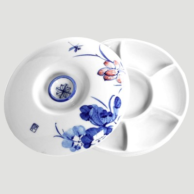 Tavolozza in Ceramica rotonda - Diametro 21cm coperchio