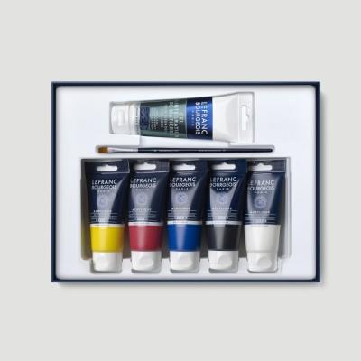 Cofanetto Colori Acrilici - 6 tubi e Pennello