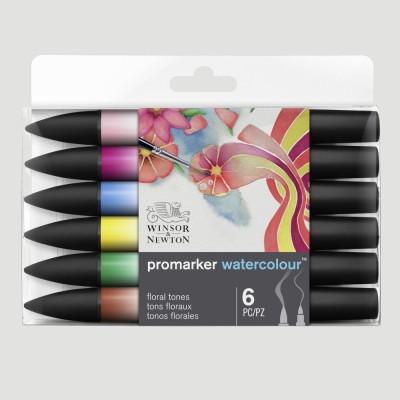 ProMarker Watercolour - 6 Tonalità Floreali