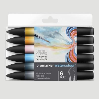 ProMarker Watercolour - 6 Tonalità del Cielo