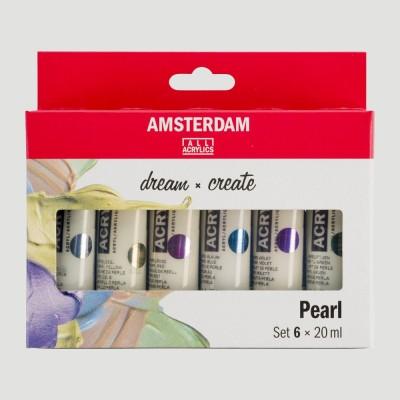 Confezione Colori Perlati - Acrilico Amsterdam