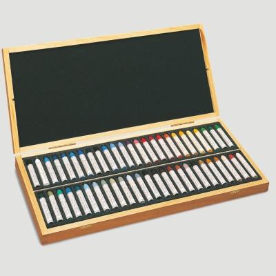 Pastelli ad Olio Sennelier - Cassetta in Legno 50 Colori