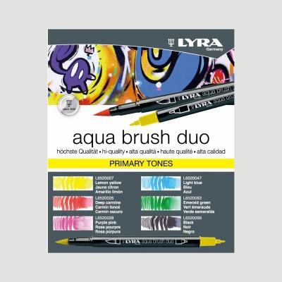 Confezione Lyra Aqua Brush Duo - 6 Colori Primari