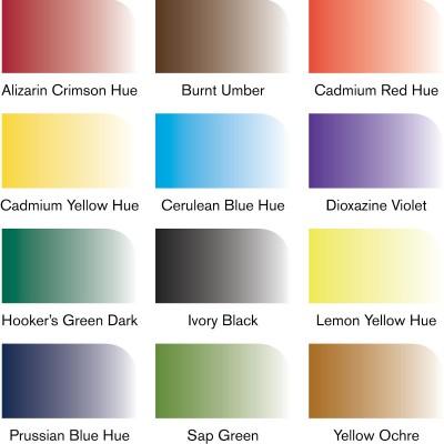 Set 12 Water Colour Marker - Punta Fine/Pennello Winsor&Newton