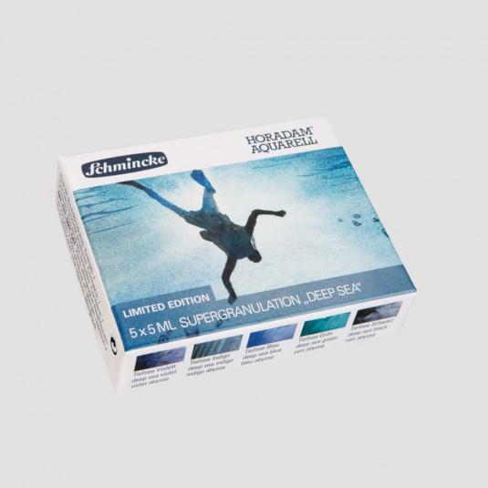 Acquerelli Horadam colori Super Granulati - Set 5 tubetti serie Deep Sea