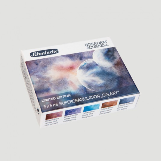Acquerelli Horadam colori Super Granulati - Set 5 tubetti serie GALAXY