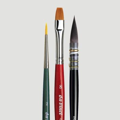 Pennelli DaVinci Arte Botanica - Confezione 3 Pennelli Acquerello
