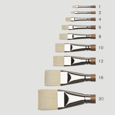 Pennello Professional Olio - Setola Sintetica punta Piatta Corta